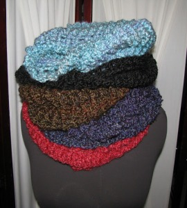A Pile of Infinity Scarves