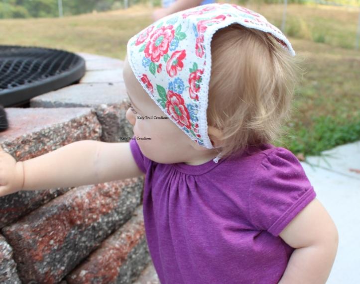 Infant-sized Babushka with vintage fabric
