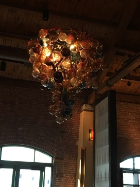 chandelier at Lidia's Italian Kansas City