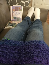 Crocheting at Rachel's