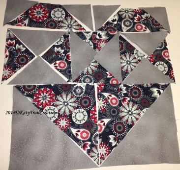 Fabric piece layout
