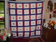 911 quilt for Fatherinlaw 46 years service on fire dpt.