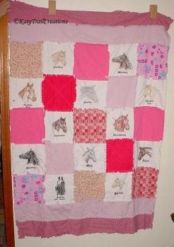 horses rag quilt ( for Kirsten)