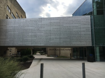 Original Rules of Basketball engraved on this wall.