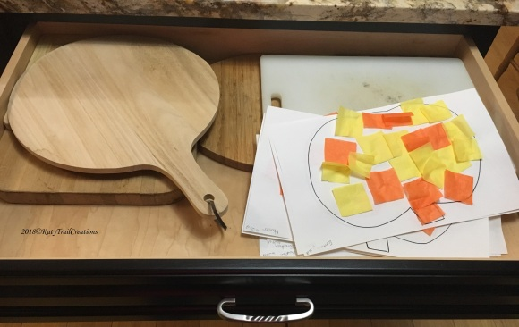 Cutting board collection and hidden art work.