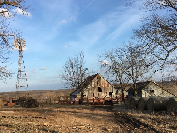 Windmill and Missouri Barns