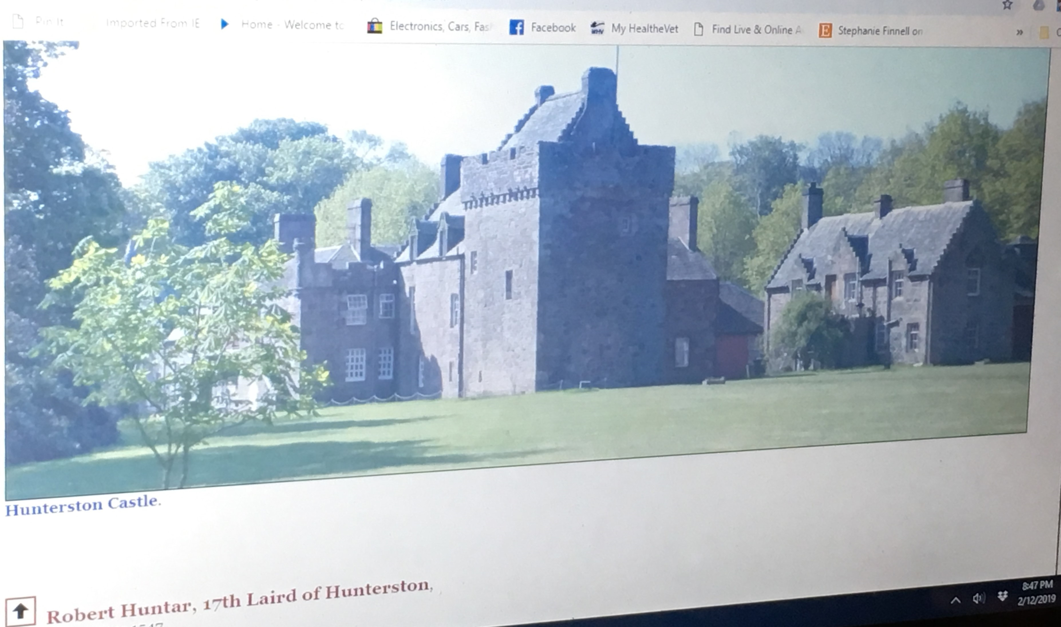 Hunterston Castle in Scotland is still standing!