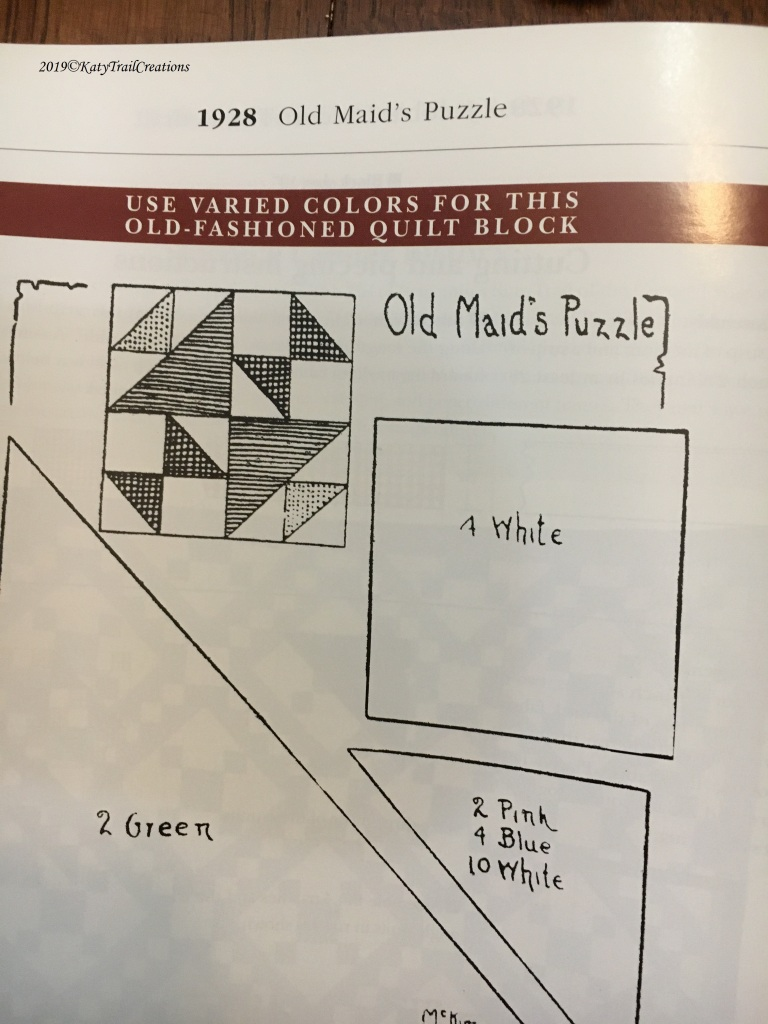 1928 Old's Maid Puzzle as seen in KCStar