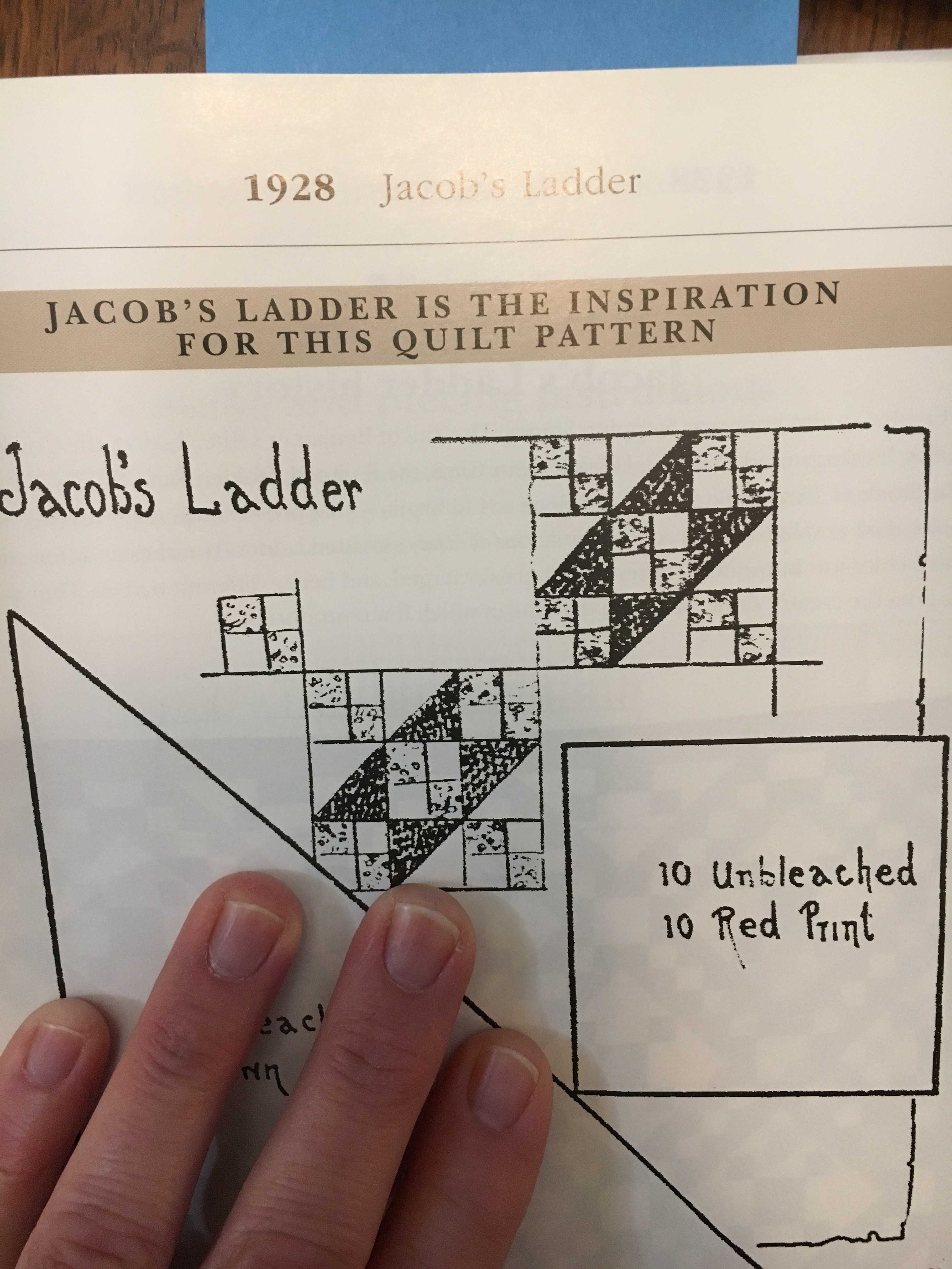 1928 Kansas City Star Version of Jacob's Ladder in Star Quilts.