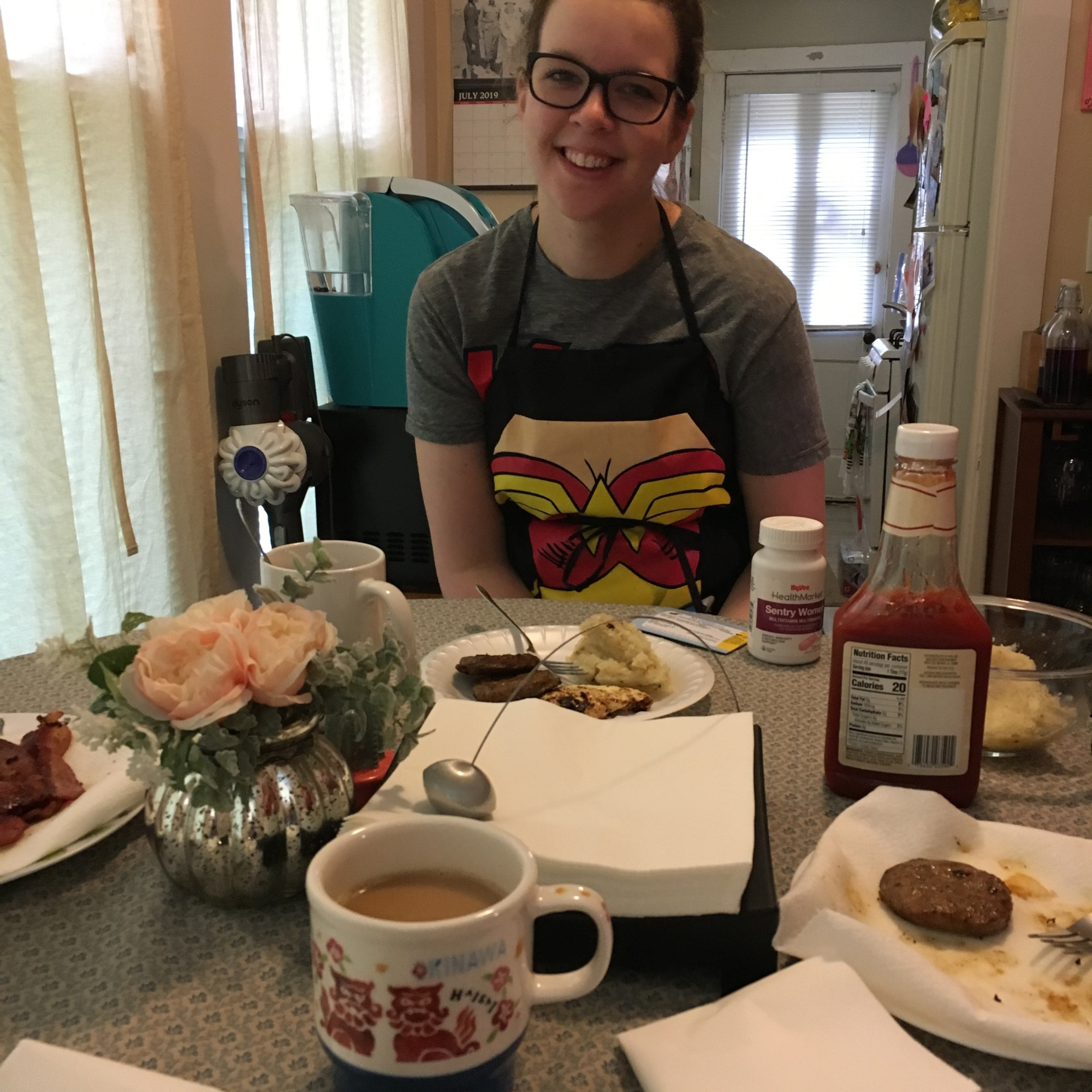 Breakfast with Wonder Woman